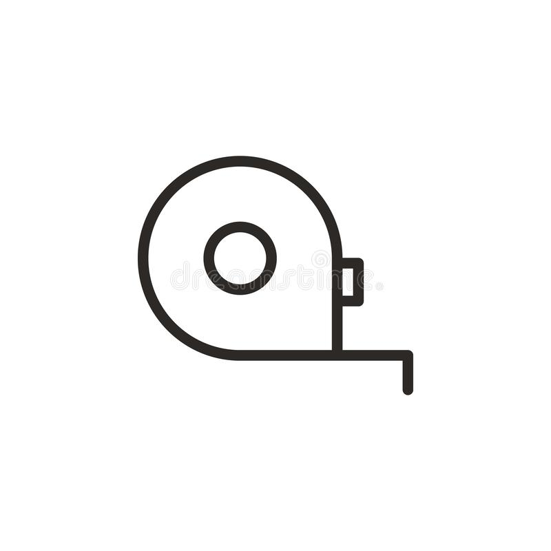 Messen, Bandvektorikone Element des Design-Tools f?r bewegliches Konzept und Netz Appsvektor D?nne Linie Ikone f?r Websitedesign  stock abbildung