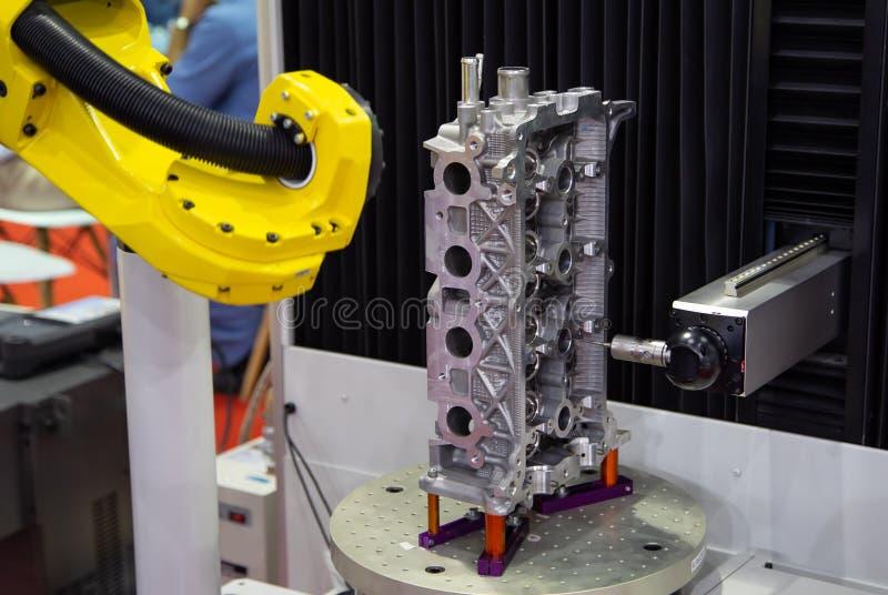 Messen CNC CMM Roboter stockbilder
