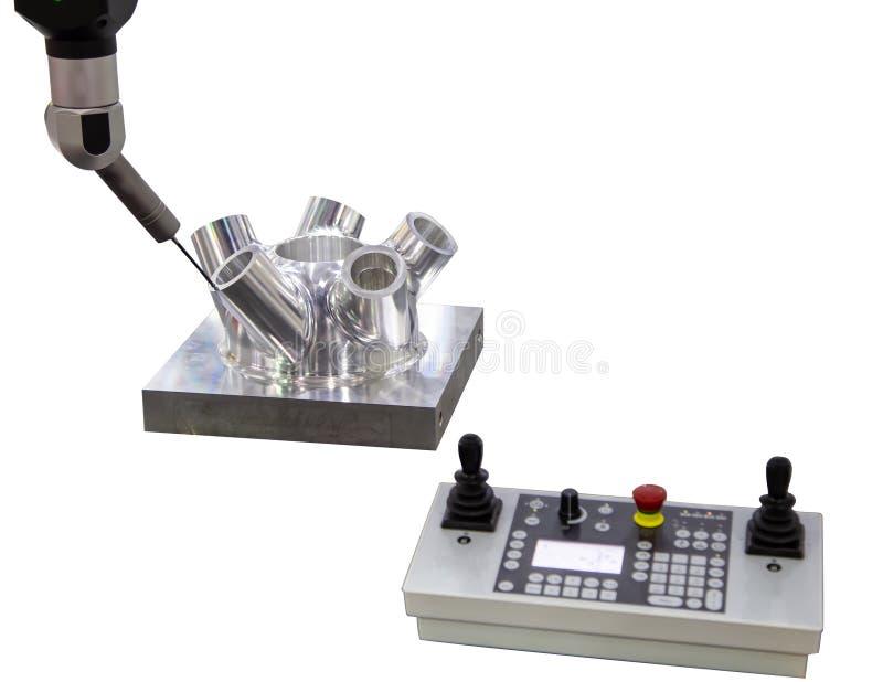 Messen CNC CMM Roboter lizenzfreie stockbilder
