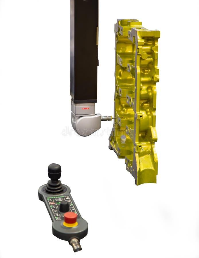 Messen CNC CMM Roboter lizenzfreies stockfoto