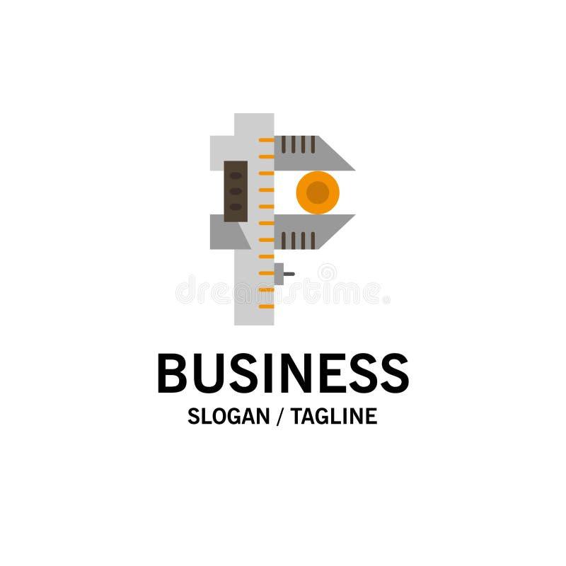 Messen, Genauigkeit, Maßnahme, kleines, kleines Unternehmen Logo Template flache Farbe stock abbildung