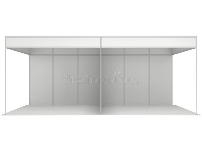 Messen-Stand-Kasten 3D weiß und leer lizenzfreie abbildung