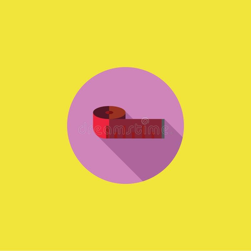 Messende Band-Ikonen-Vektor-Illustration lizenzfreie stockbilder