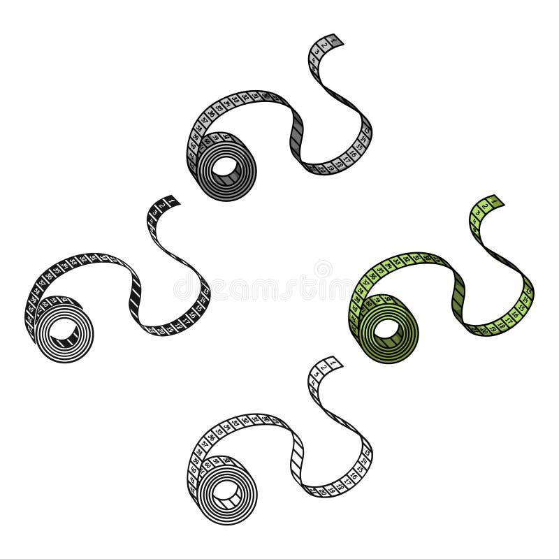 Messende Bandikone in der Karikaturart lokalisiert auf weißem Hintergrund Sport- und Eignungssymbolvorrat-Vektorillustration stock abbildung