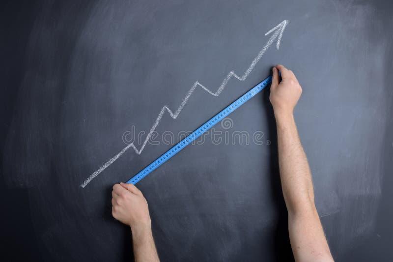 Messender Erfolg stockfoto