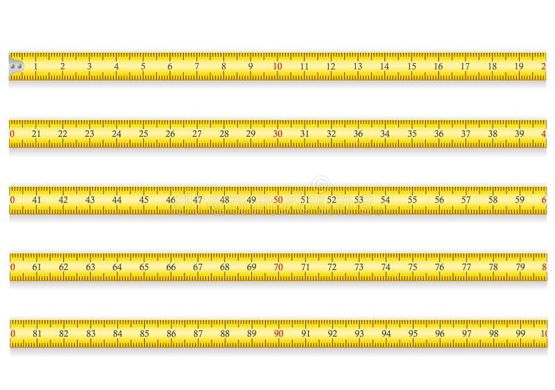 Messendes Band für Werkzeugroulette vector Illustration ENV 10 stock abbildung
