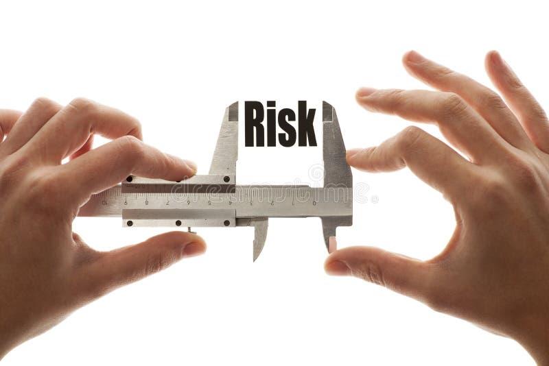 Messendes Risiko stockfotografie