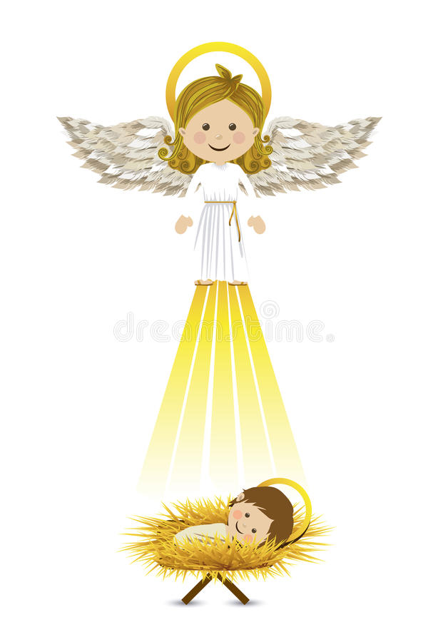 Messenger angel vector illustration