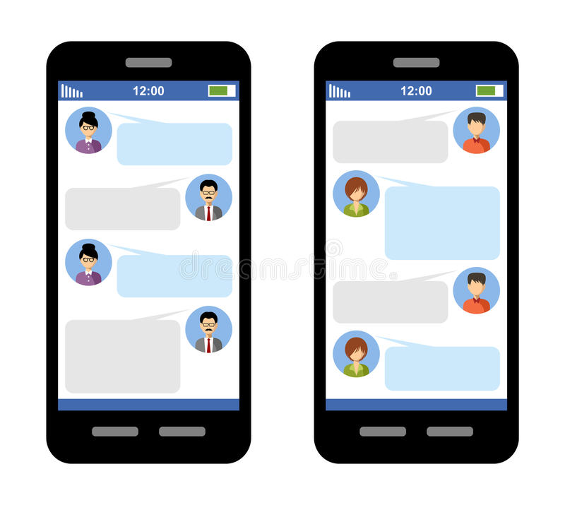 Messenger concept. Correspondence in SMS. Messages in a messenger Blank template. Chat window. Vector vector illustration
