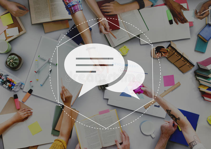 Messenger Discussion Community Technology Graphic Concept royalty free stock image