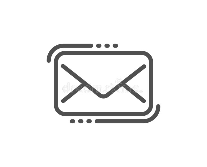 Messenger Mail line icon. New newsletter sign. Vector. Messenger Mail line icon. New newsletter sign. Phone E-mail symbol. Quality design flat app element stock illustration