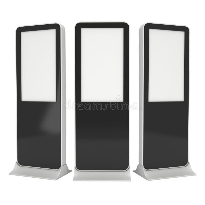 Messenstand LCD-Ausstellungsstand stock abbildung