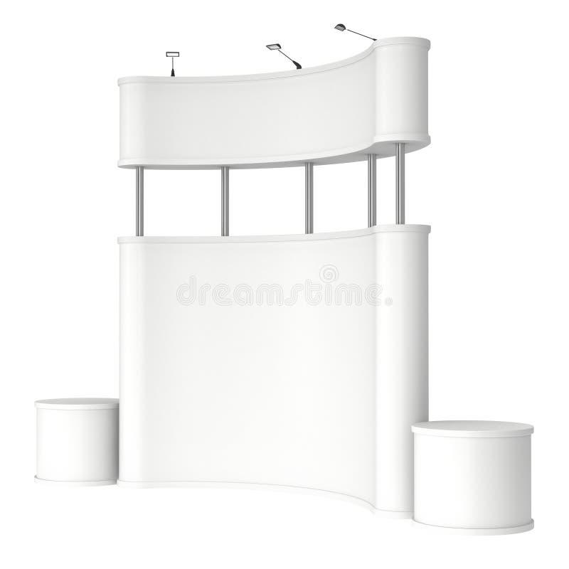 Messenstand weiß und leer stock abbildung