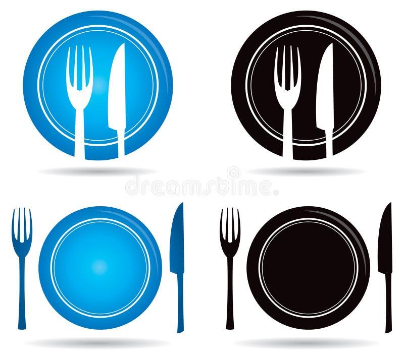 Messer-Gabel-Logo vektor abbildung