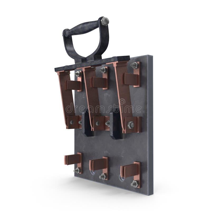Messer-Schalter stock abbildung. Illustration von draht - 98706347