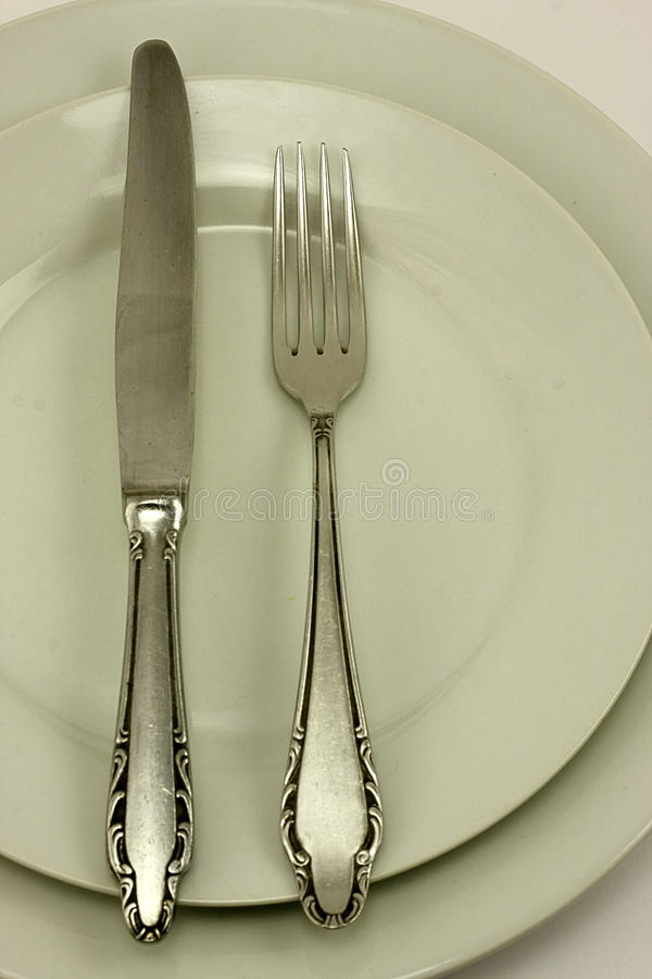 Messer und Gabel stockfotos