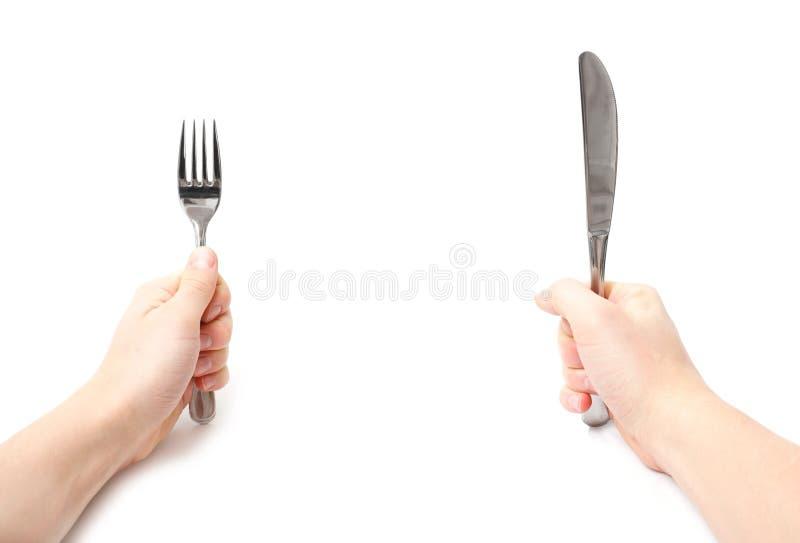 Messer und Gabel lizenzfreie stockbilder