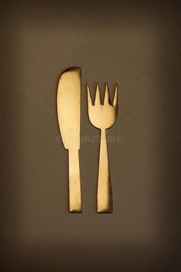 Messer und Gabel stockbild