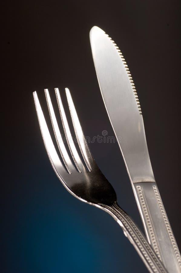 Messer und Gabel lizenzfreie stockfotografie