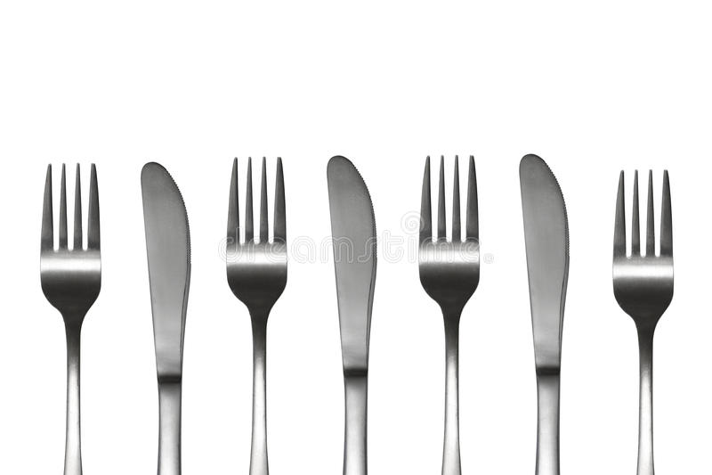 Messer und Gabeln lizenzfreie abbildung