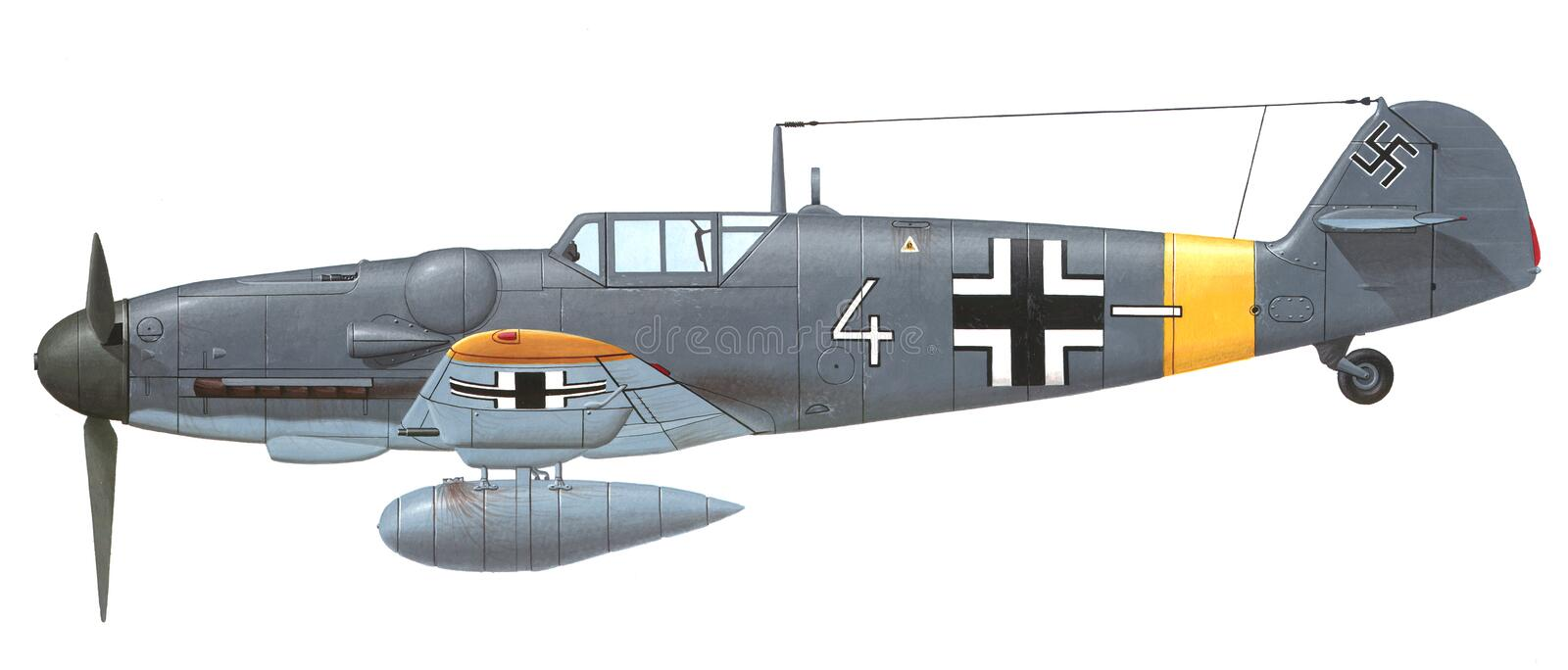 Messerschmitt Bf 109 G royalty free illustration