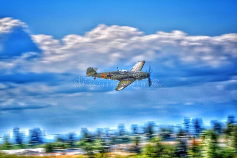 Messerschmitt Bf-109 samolot szturmowy zdjęcie royalty free