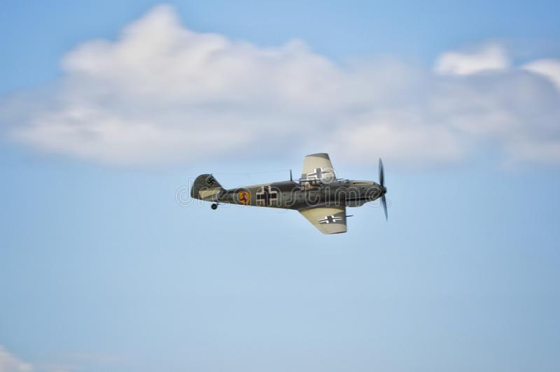 Messerschmitt Bf-109 fighter plane royalty free stock photography