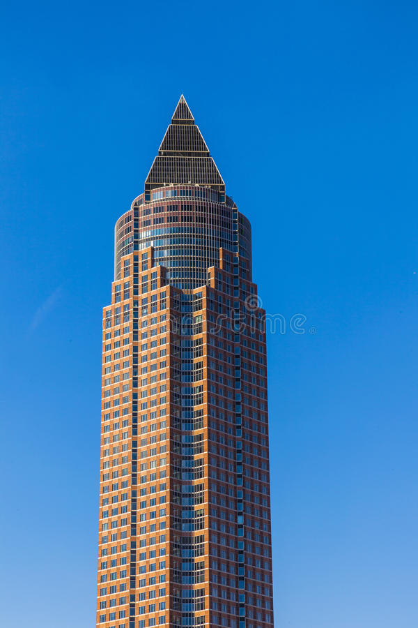 Messeturm - δίκαιος πύργος της Φρανκφούρτης στοκ εικόνα με δικαίωμα ελεύθερης χρήσης