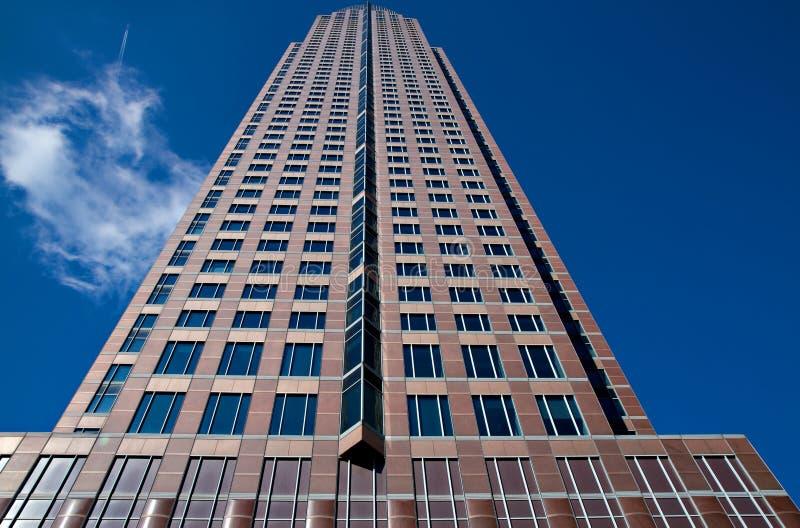 Messeturm - torre justa de Francfort fotografía de archivo