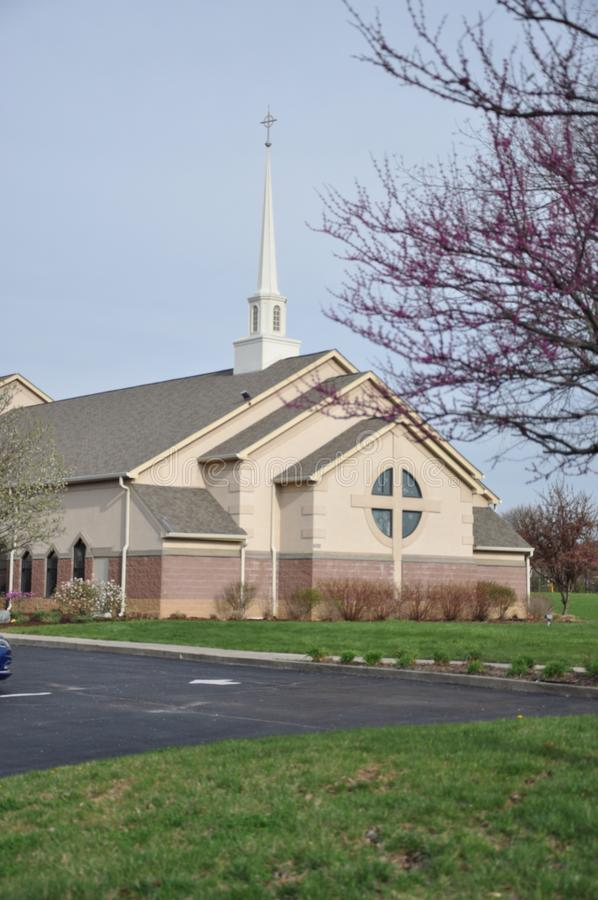 Messiah Lutheran Church and Preschool at Eagle Creek. The photo of this Beautiful church was taken in Brownsburg, indiana stock image