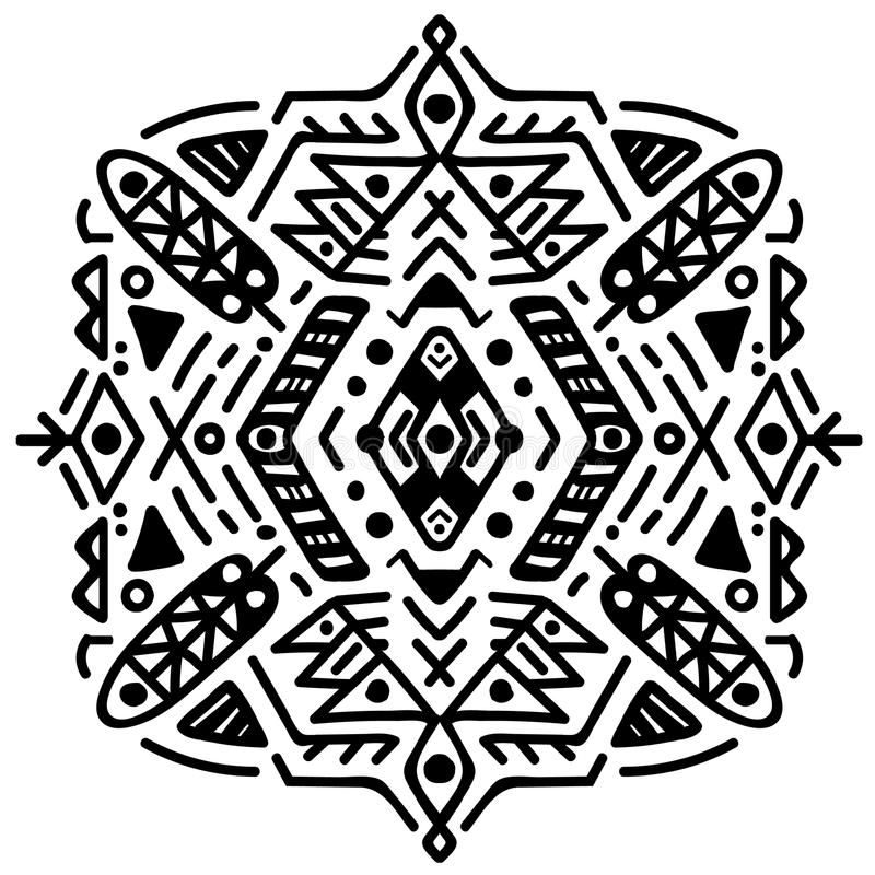 Messicano ed ornamento tribale azteco Vettore immagini stock libere da diritti