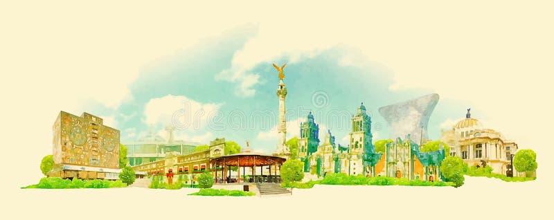 Messico City illustrazione vettoriale