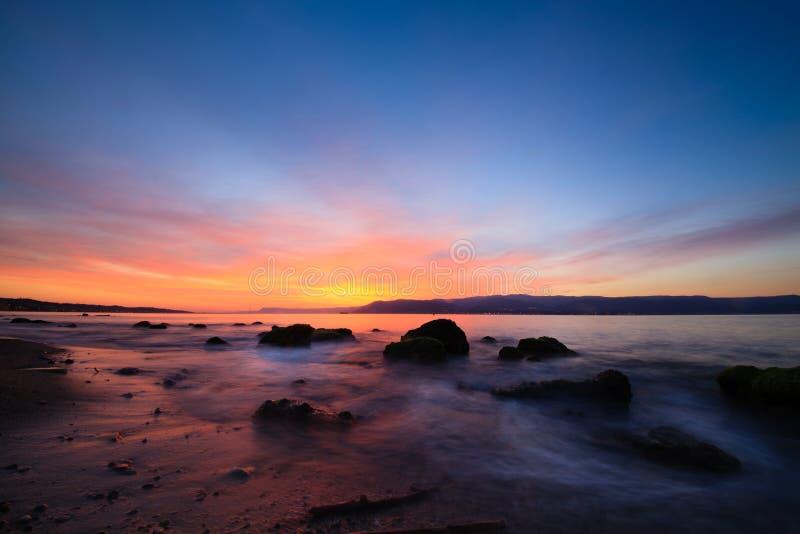 Messina ed alba fotografie stock libere da diritti