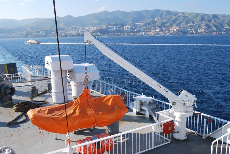 Messina kanal arkivfoto
