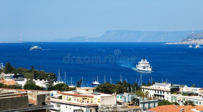 Messina strait stock images