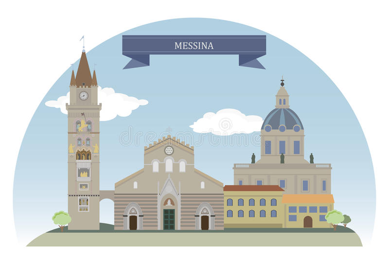Messine, Italie illustration libre de droits