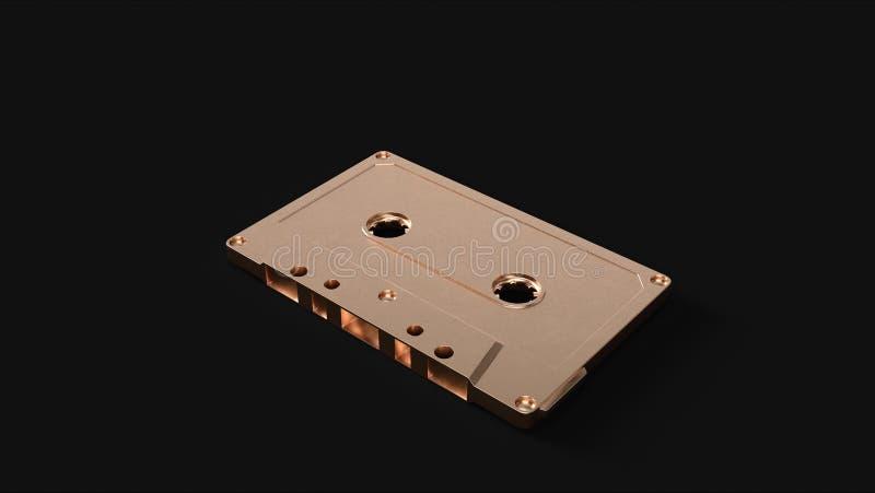 Messing-Kassette Boombox StereoBrass stockfotografie