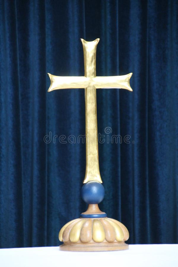Messingkruzifix lizenzfreie stockfotografie