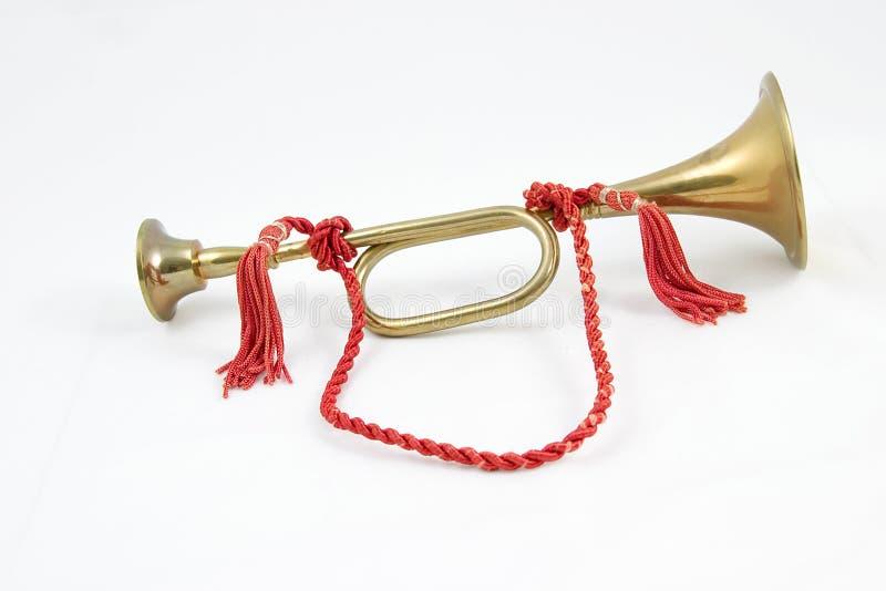 Messingsignalhorn #1 lizenzfreie stockbilder