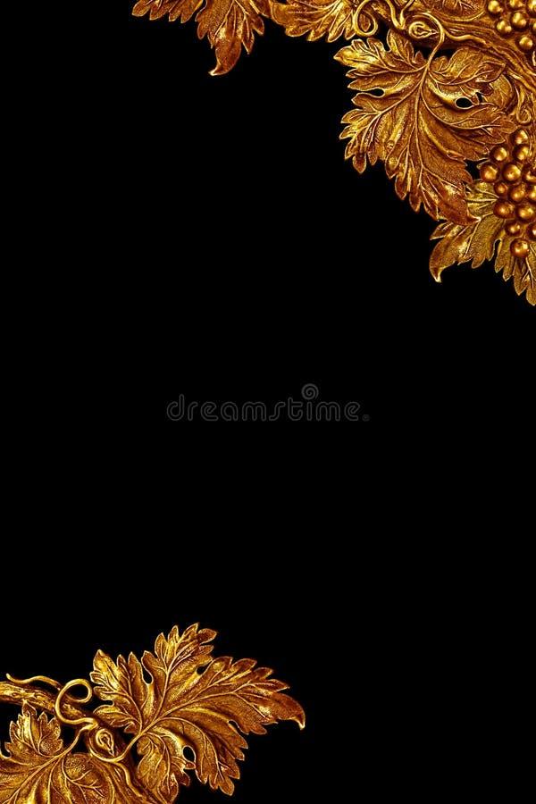 Messingweinstockdetailhintergrund, Rand stockfotografie