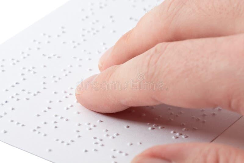 Messwert Blindenschrift stockfotografie