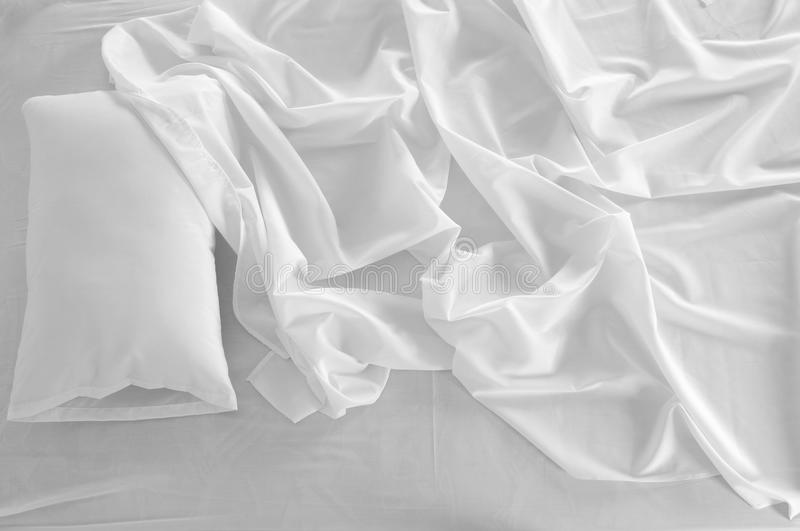 Download Messy bed. stock photo. Image of white, soft, textile - 14856926
