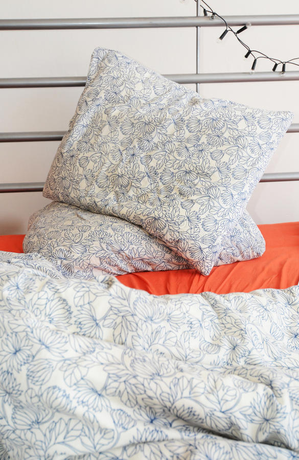 Messy bed royalty free stock image