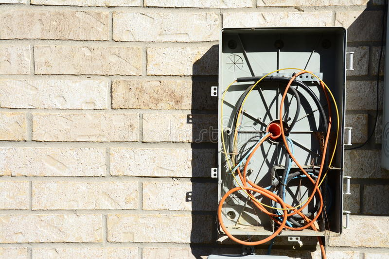 Download Messy cable tv box stock photo. Image of satellite, junction - 83715378