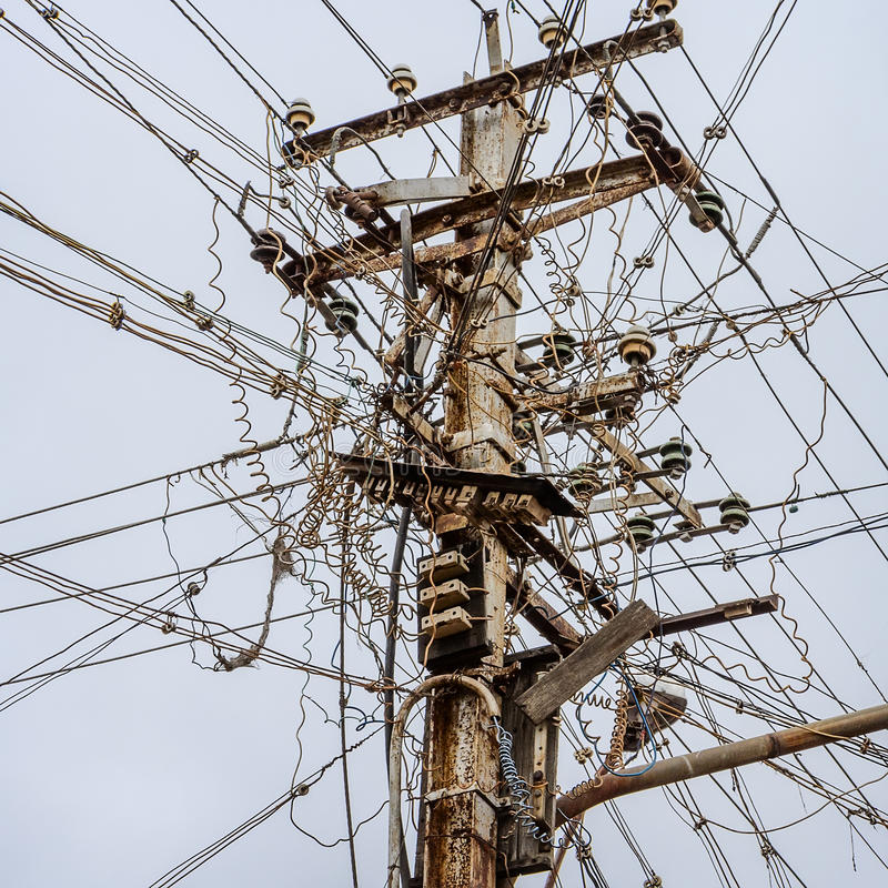 Free Messy Electrical Cables In India. Royalty Free Stock Image - 51643426