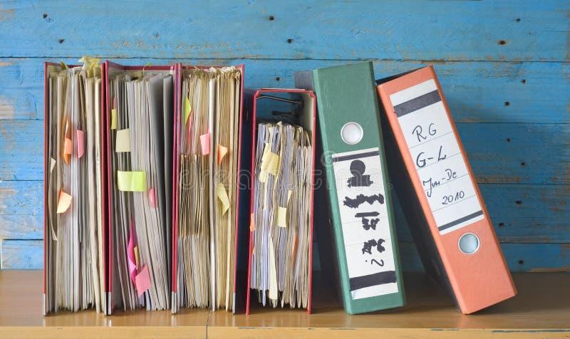 Messy file folders, stock image