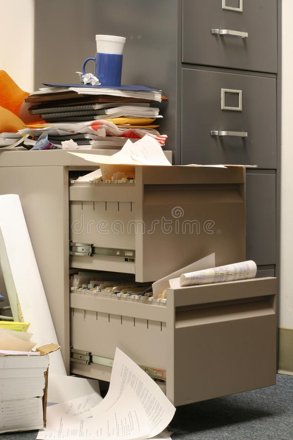 messy file cabinet. Download Messy Filing Cabinet Stock Image. Image Of Compartment - 16344511 File N
