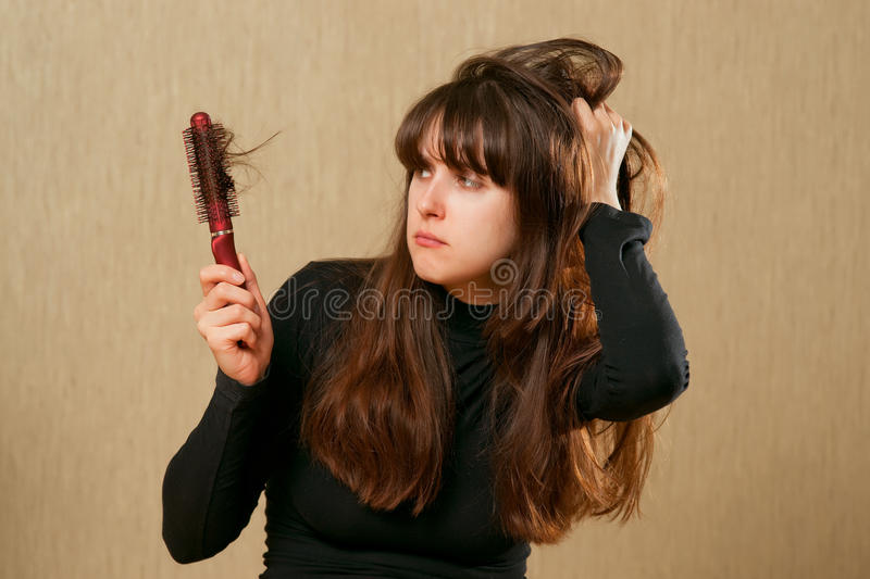 Messy Hair Royalty Free Stock Photography