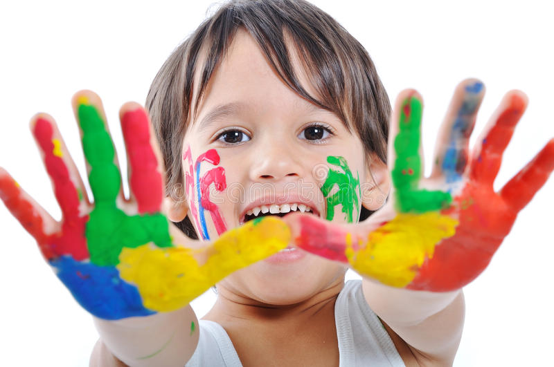 Download Messy hands, childhood stock photo. Image of cute, people - 12091298