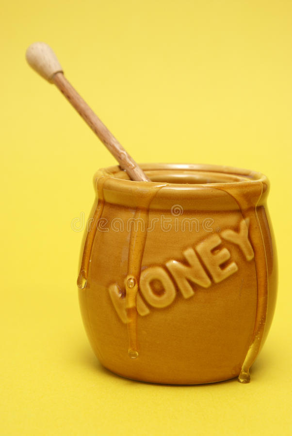 Messy Honey Jar stock images